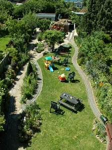 Over view of garden